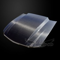 Ford Mustang 2010-2012 3 Inch Cowl Style Functional Heat Extraction Hood(Carbon Fiber)