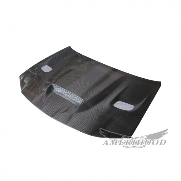 Chrysler 300 2011-2019 Type-HC Style Carbon Fiber With Heat Extractor Vents Hood