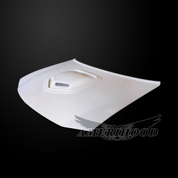 Dodge Charger 2006-2010 Type-Shaker Style Functional Ram Air Hood - Front 1/4 View