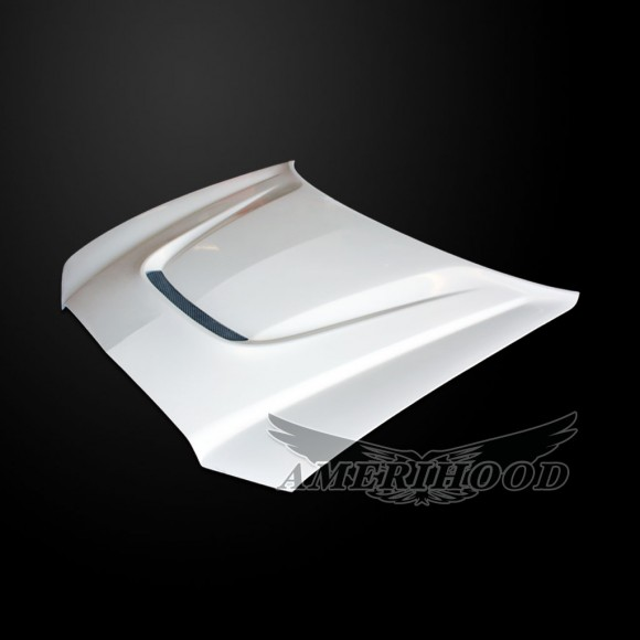 Dodge Charger 2011-2014 Type-SRT Style Functional Heat Extractor Cooling Hood - Front 1/4 View