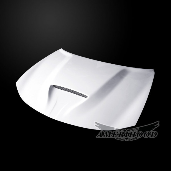 Dodge Charger 2006-2010 Type-SRT Style Functional Ram Air Hood - Front 1/4 View