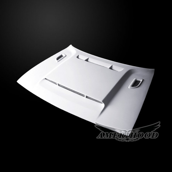 Dodge Challenger 2008-2019 DEM Style Functional Heat Extractor Ram Air Hood
