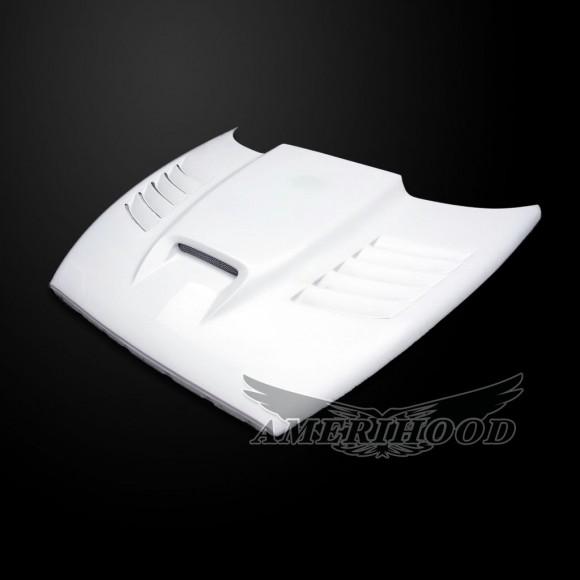 Dodge Dakota 1997-2004 SSK Style Functional Heat Extractor Vented Hood - Front 1/4 View