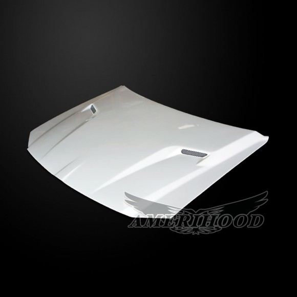 Dodge Magnum 2005-2007 Type-CLG Style Functional Ram Air Hood - Front 1/4 View