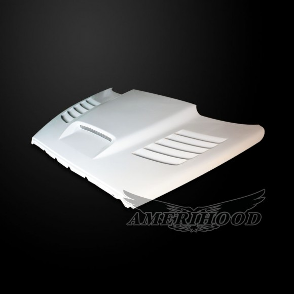 Dodge Ram 1500 2002-2008 Type-SSK Style Functional Heat Extractor Ram Air Hood