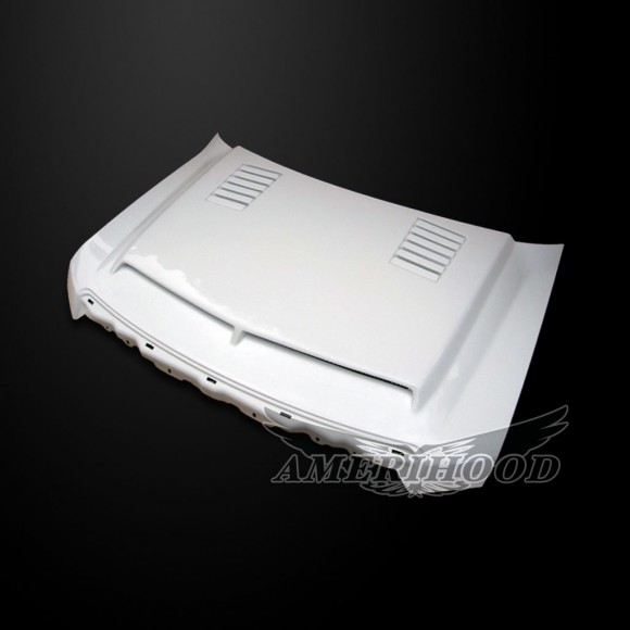 Ford F-150 2009-2014 Type-E Style Functional Ram Air Cooling Hood - Front 1/4 View
