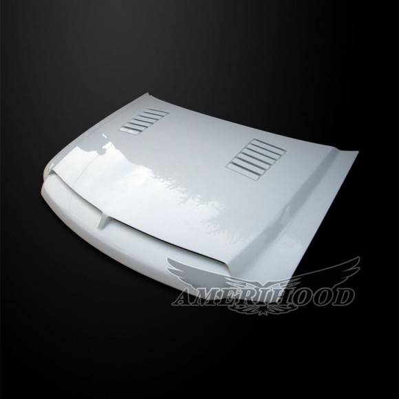 Ford F-250 1997-1999 Type-E Style Ver. 2 Functional Ram Air Cooling Hood - Front 1/4 View