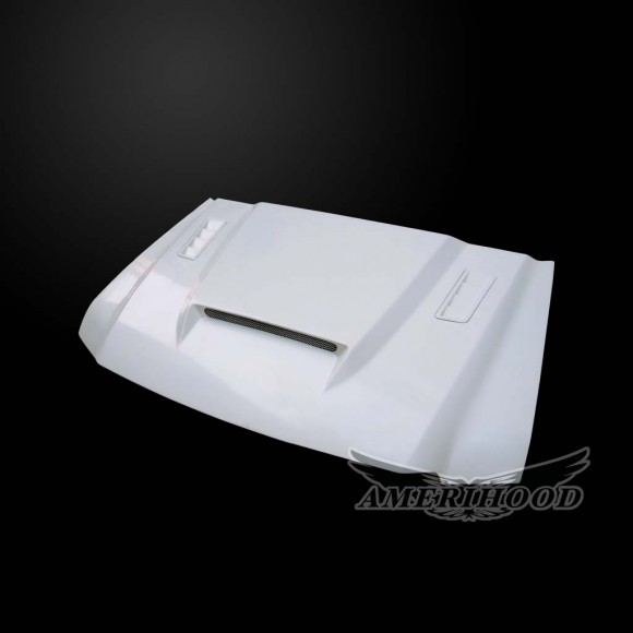 Ford F-450 2003-2007 Super Duty 6.0L Diesel SSK Style Functional Heat Extractor Ram Air Hood