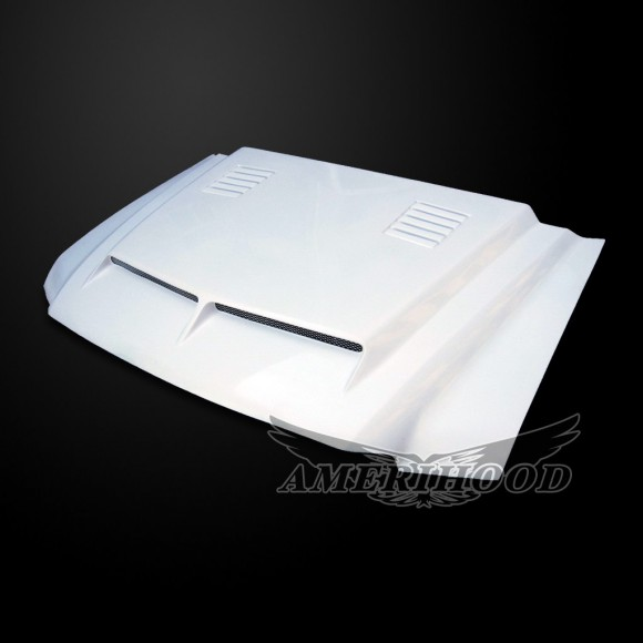 Ford F-350 2003-2007 Super Duty 6.0L Diesel Type-E Style Functional Heat Extractor Ram Air Hood