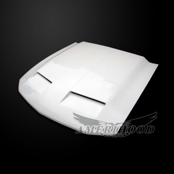 Ford Mustang 2005-2009 Type-GTR Style Functional Ram Air Hood - Front 1/4 View