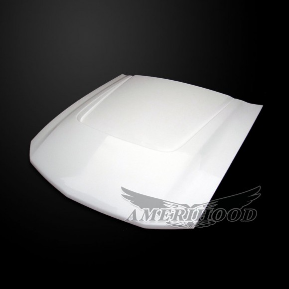 Ford Mustang 2005-2009 Type-SBY Style Functional Heat Extraction Hood - Front 1/4 View