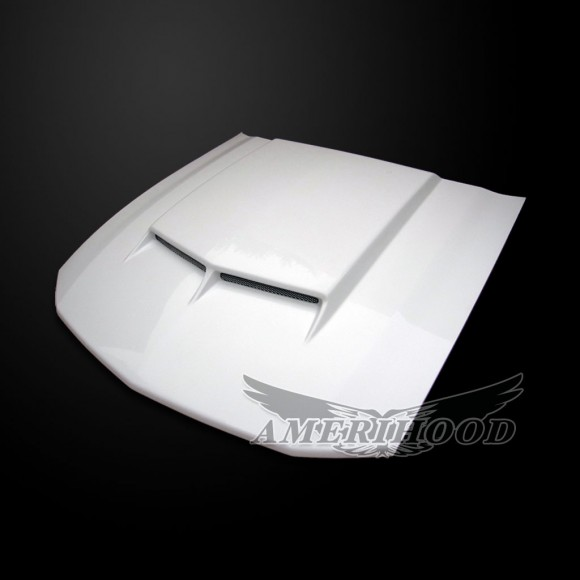Ford Mustang 2005-2009 Type-C Style Functional Ram Air Hood - Front 1/4 View