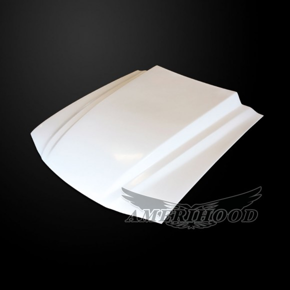 Ford Mustang 1994-1998 Type-Cowl Style(3 Inch) Functional Cooling Hood - Front 1/4 View