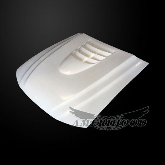 Ford Mustang 1999-2004 Type-1 Style Functional Heat Extraction Cooling Hood - Front 1/4 View