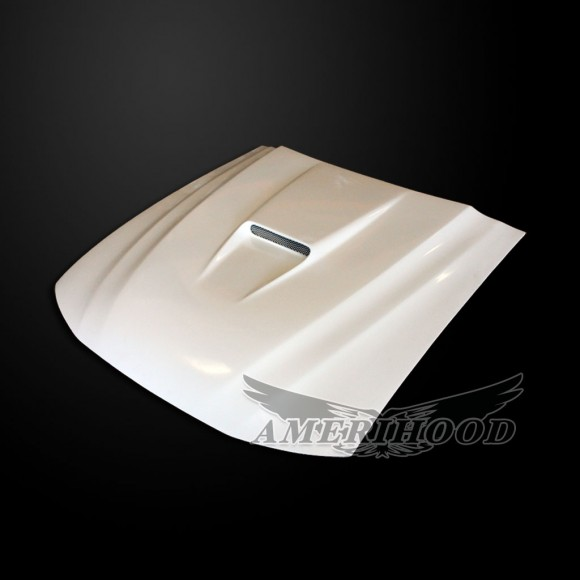 Ford Mustang 1999-2004 Type-2 Style Functional Heat Extraction Ram Air Hood - Front 1/4 View