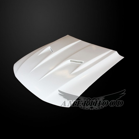 Ford Mustang 1999-2004 Type-3 Style Functional Heat Extraction Ram Air Hood - Front 1/4 View