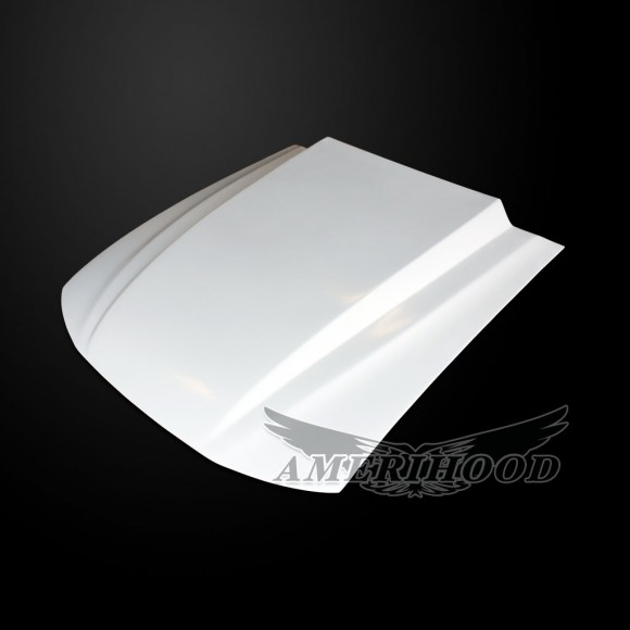 Ford Mustang 1999-2004 Type-Cowl Style(3 Inch) Functional Heat Extraction Cooling Hood - Front 1/4 View