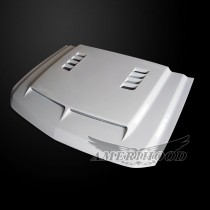 Chevrolet Silverado 1500 2007-2013 Type-E Style Functional Heat Extractor Ram Air Hood