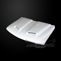 Chevrolet Silverado 1999-2002 Type-S Style Functional Ram Air Hood -  Front 1/4 View