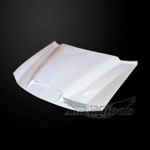 Dodge Charger 2006-2010 Type-BigBoss Style Functional Ram Air Hood -  Front 1/4 View