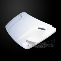 Dodge Caliber 2007-2012 Type-CLG Style Functional Ram Air Hood - Front 1/4 View