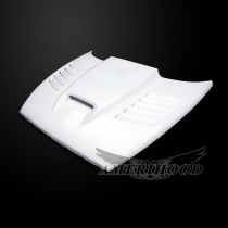 Dodge Dakota 1997-2004 SSK Style Functional Heat Extractor Vented Hood - Front 1/4 View