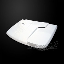 Dodge Nitro 2007-2011 Type-CLG Style Functional Ram Air Hood - Front 1/4 View