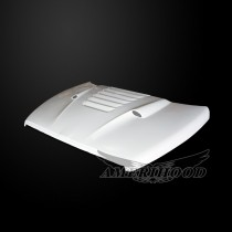 Dodge Ram 3500 1994-2002 Type-TS Style Functional Heat Extractor Ram Air Hood(ram air for gas w/o V10 only)