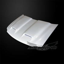 Ford Expedition 1997-2002 Type-S Style Functional Ram Air Cooling Hood - Front 1/4 View
