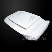 Ford F-450 2011-2014 Type-E Style Functional Heat Extraction Ram Air Hood - Front 1/4 View