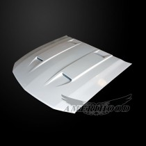 Ford Mustang 2005-2009 Type-3 Style Functional Heat Extractioni Ram Air Hood - Front 1/4 View
