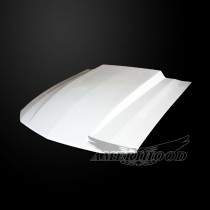 Ford Mustang 2005-2009 Type-Cowl Style(3 Inch) Functional Heat Extraction Hood - Front View