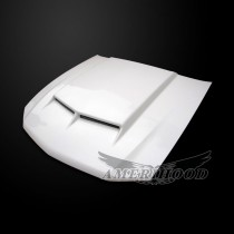 Ford Mustang 2010-2012 Type-C Style Functional Ram Air Hood - Front 1/4 View