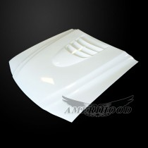Ford Mustang 1994-1998 Type-1 Style Functional Cooling Hood - Front 1/4 View