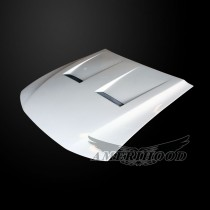 Ford Mustang 1999-2004 Type-6 Style Functional Heat Extraction Cooling Hood - Front 1/4 View