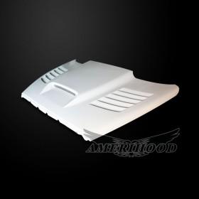 Dodge Ram 1500 2002-2008 Type-SSK Style Functional Heat Extractor Ram Air Hood