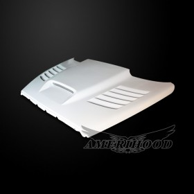 Dodge Ram 3500 2003-2009 Type-SSK Style Functional Heat Extractor Ram Air Hood